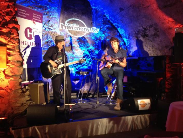 Garland Jeffreys und Carl Carlton auf der Hellhof Kronberg Bühne
