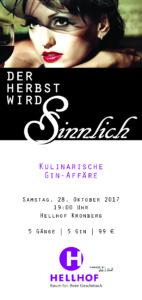 Hellhof Kulinarische Gin Affäre