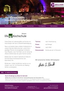 Siemens lifeKochschule Vorschau